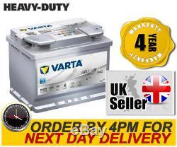 027 Heavy Duty Varta D52 AGM 013 Car Battery Mercedes Nissan Peugeot Renault