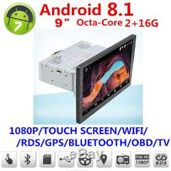 1 Din Android 8.1 91080P Touch Screen Octa-Core 2GB RAM 16GB ROM GPS Wifi 3G 4G