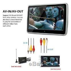 10.1 TFT Touch Car Headrest Monitor DVD Player Game HDMI / USB / SD / IR / FM