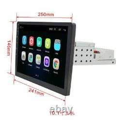 10.1in 1Din Android 8.1 Touch Screen Car MP5 Player Stereo Radio GPS WIFI + Cams