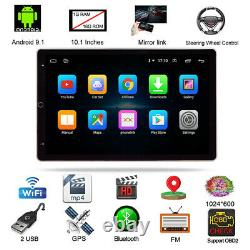 10.1in Double 2Din Car Radio Stereo BT FM WIFI MP5 Player Android9.0 GPS Sat Nav