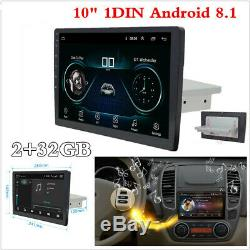10 Single 1DIN Android 8.1 Car Stereo Radio MP5 Player GPS BT WiFi 3G 4G 2+32GB