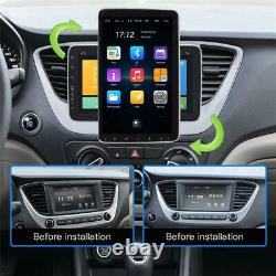10in 1DIN Car Radio Stereo BT WIFI FM MP5 Player Android 9.1 GPS Sat Nav +Cam