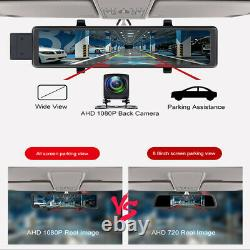 11.26in 4G Wifi Dash Cam Android 8.1 Car Rearview Mirror DVR Recorder GPS Navi