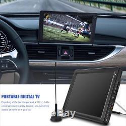12'' Digital Color TFT-LED HD DVB-T2 TV Television Remote Control MP3 MP4 HDMI