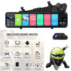 12in Android 8.1 Dash Cam Camera Video Recorder WiFi GPS Night Vision Car DVR