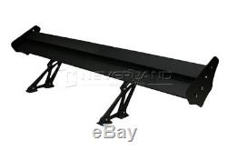 135cm/53 Universal Double Deck Car GT Rear Wing Spoiler Lightweight Aluminum