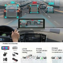 140° 8in Android 8.1 BT Wifi 4G GPS Front Rear Camera Dash Cam Car DVR Recorder