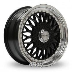 15 Lenso Bsx Gloss Black Mirror Lip Alloy Wheels Only Brand New 5x98 Et35 Rims