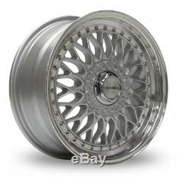 15 Lenso Bsx Silver Mirror Lip Alloy Wheels Only Brand New 4x114.3 Et30 Rims