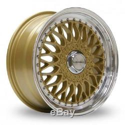 17 Lenso Bsx Gold Mirror Lip Alloy Wheels Only Brand New 4x114.3 Et35 Rims