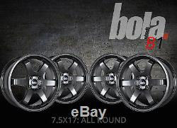 17 inch BOLA B1 4x114.3 GUNMETAL 4 stud Honda Dodge alloy wheels