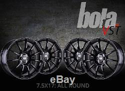17 inch BOLA VST 4x114.3 BLACK 4 stud Honda Dodge alloy wheels