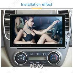 1Din 10.1 Android 9.1 Car Stereo Radio GPS NAV Universal Adjustable Mirror Link