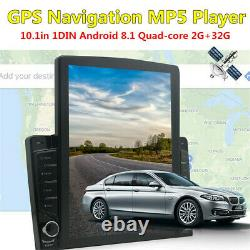 1Din 10.1in Android 8.1 Quad-core Car Stereo Radio MP5 Player Bluetooth GPS WIFI