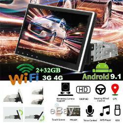 1Din 10 Android 9.1 Car Stereo GPS Navi WIFI 3G 4G DAB+ TPMS DVR Radio BT OBD