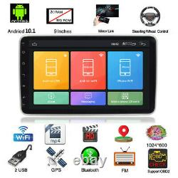 1Din 9in Android 10.1 Car Stereo Radio Bluetooth GPS WIFI FM MP5 Player 2+32G