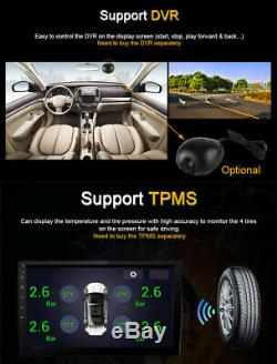 1Din Adjustable Android 8.1 9 1080P Quad-core RAM 1GB ROM 16GB Car Stereo Radio