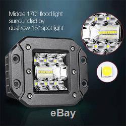 1x 4.8 LED Flush Mount Lights Spot Flood Combo Bumper Reverse Lamps 6500K White