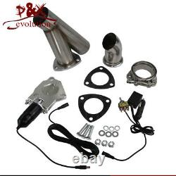 2.5 Dual Exhaust Catback Downpipe Cutout E-Cut Valve System + Switch Control x2