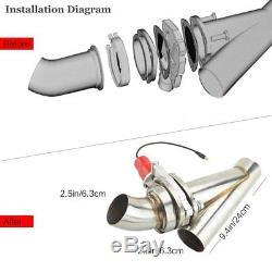 2.5 Electric Exhaust Catback Control Valve Downpipe Cutout E-Cut Valve Remote