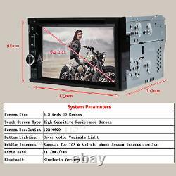 2 DIN 6.2 Car Stereo Sat Nav Mirror Link for GPS DVD Player USB Radio for Audi