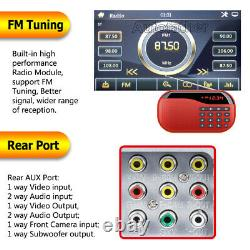 2 DIN Double 6.2 Car Stereo Radio DVD CD Player 1080P Touch Screen USB + Camera
