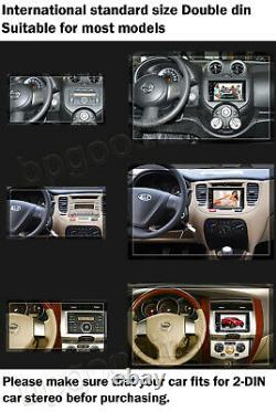 2DIN 6.2inch Car Stereo Radio DVD CD Player Bluetooth MP3 For Audi Alfa Romeo