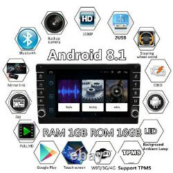 2Din 8in Android 8.1 Quad-core Car Radio Stereo GPS Navi WIFI MP5 Player 1+16GB