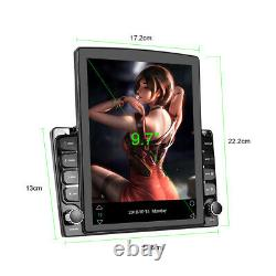 2Din 9.7in Android 9.1 Car Stereo Radio MP5 Player Nav GPS BT WIFI FM + Camera