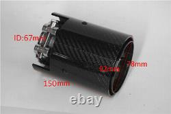 2PC Car Real Carbon Fiber Exhaust tip For BMW 1234 M Performance exhaust pipe M2