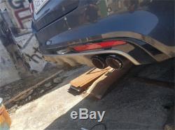 2PCS 63mm 89mm Carbon Fiber Car Exhaust Muffler Pipe Dual Tip Stainless Steel