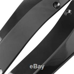 2X ABS Universal Auto Bumper Spoiler Rear Lip Canard Diffuser Anti-scratch Kit L