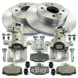 2x Bremssattel + Bremsscheiben + Bremsbeläge hinten für Nissan Primera P11 WP11