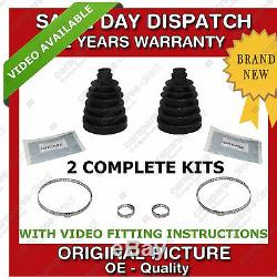 2x DRIVESHAFT FIT FOR A NISSAN OUTER CV JOINT & BOOT KIT BRAND NEW