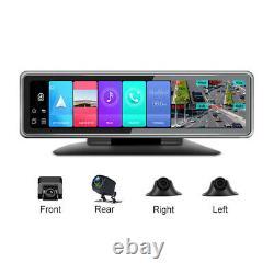 360° 4 Cams Dash Camera WiFi GPS Car DVR Video Recorder Night Vision Rear Mirror
