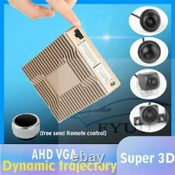 3D & 2D 360 Surround View System Driving Bird View 4 Camera DVR Mini Remote