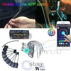 3W64Colors Car Atmosphere Light Lamp APP Control DIY Soft Refit Optic Fiber Band