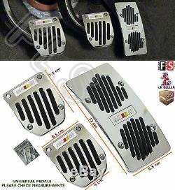 3pcs UNIVERSAL MANUAL CAR FOOT PEDAL PAD COVER NON SLIP ALUMINIUMNissan 1