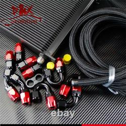 40 Row AN10 Engine Oil Cooler + 5Meter 10-AN Oil/Fuel Line with Hose Fittings Kit