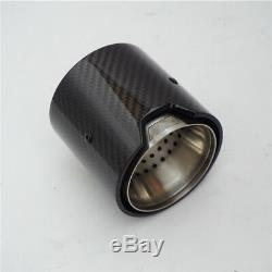 4Pc Carbon Fiber Exhaust Pipe Trim Tip For BMW M Performance exhaust pipe M2 F87