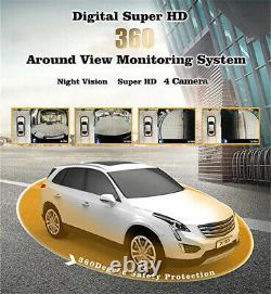 4x Car Parking Camera System Kit 360° 3D Bird View Panoramic Anti-Fog Rain-Proof