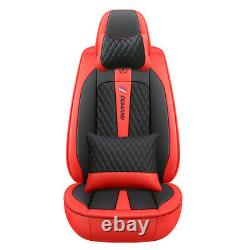 5-seats Car Seat Cover Cushion PU Leather Full Set Fit For Interior Accessories