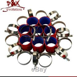 500x180x64mm Front Mount Intercooler + 63mm 2.5 Aluminum Piping Hose Clamps Kit