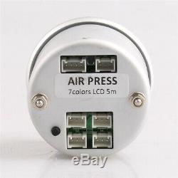52mm Digital Air Gauge Air Suspension PSI BAR 5pieces 1/8NPT Electrical Sensors