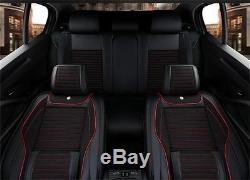 5D Full Surrounded Deluxe Edition Linen Leather Car Seat Cover Cushion 5-Seats