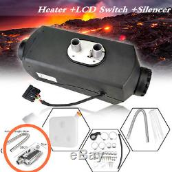 5KW 12V Air diesel Heater For Cars Truck Bus Van Trailer LCD Switch + Silencer