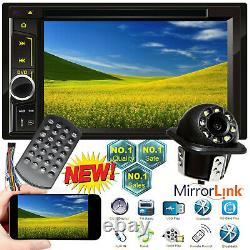 6.2 CD DVD 2 DIN Car Stereo SD USB Bluetooth Mirror Link Fur GPS + Rear Camera