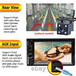 6.2 Double 2Din Mirror Link Car Stereo CD DVD Player USB SD FM TV Radio + Camera