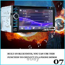 6.2INCH 2DIN Car Stereo In Dash DVD TV MP3 Player Bluetooth FM AM Radio UK STOCK